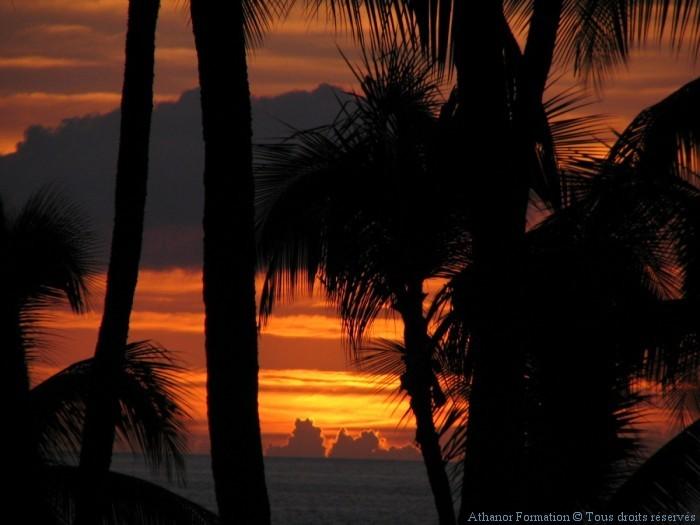coucher de soleil à Hawaii